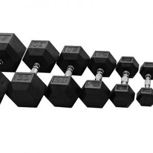 NEW Rubber Hex Dumbbells 69 cents per pound!